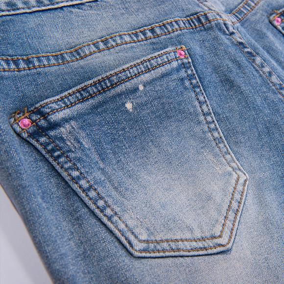 一城画一 2014秋装做旧磨破修身显瘦个性小脚牛仔裤长裤431n4098|一淘图片