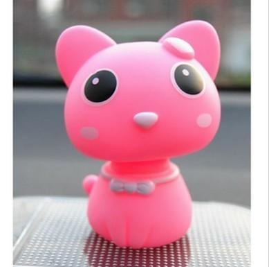 萌小猫咪可爱汽车摆件 摇头公仔 创意玩偶摆件 汽车饰品 车饰