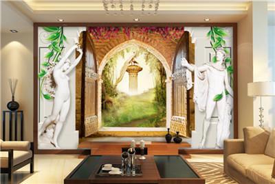 玄关壁画 走廊壁画 壁布 欧式壁画