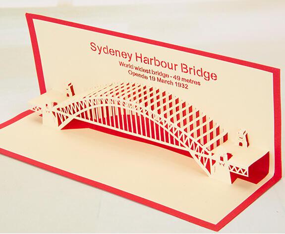 悉尼桥剪纸雕手工3d立体创意贺卡