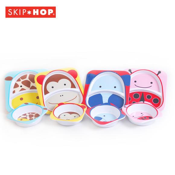 skip hop 可爱动物园系列宝宝餐具组合