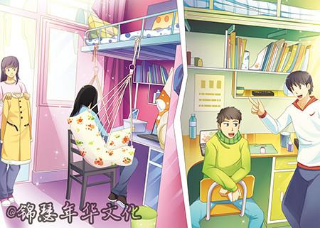 云南财经大学手绘明信片校园记忆毕业季校友礼物