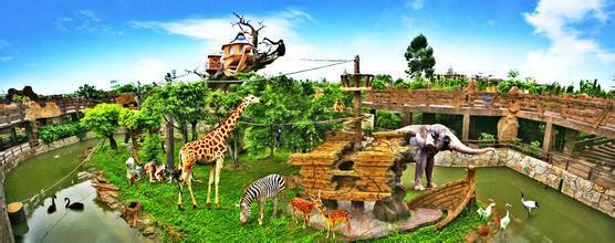 动物园松鼠儿童画