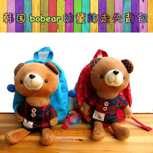 韩国BOBEAR波波熊纯棉帆走失布防双肩幼儿景宏源铁观音图片