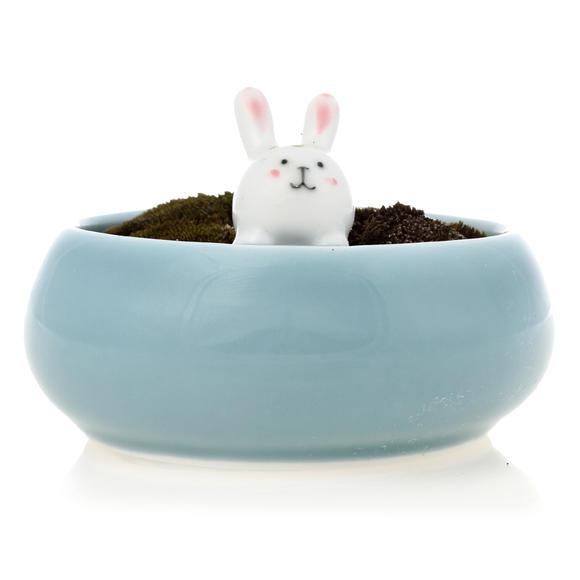 陶瓷可爱小兔子小花盆