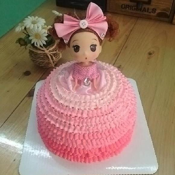 *小q蛋糕* 芭比娃娃蛋糕 创意造型蛋糕图片