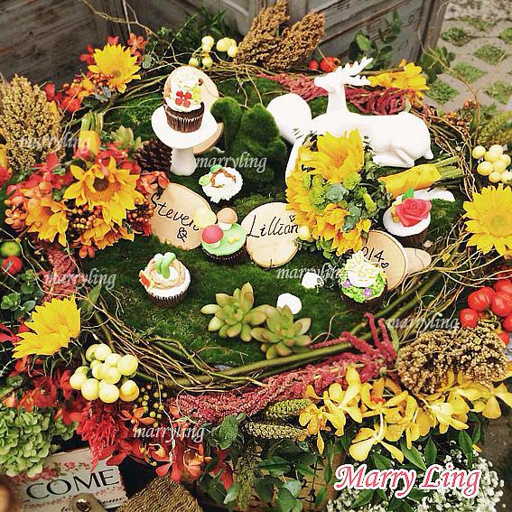 欧式复古花园风-可定制 甜品桌布置/婚前茶歇 宝宝满月 上海全套配送