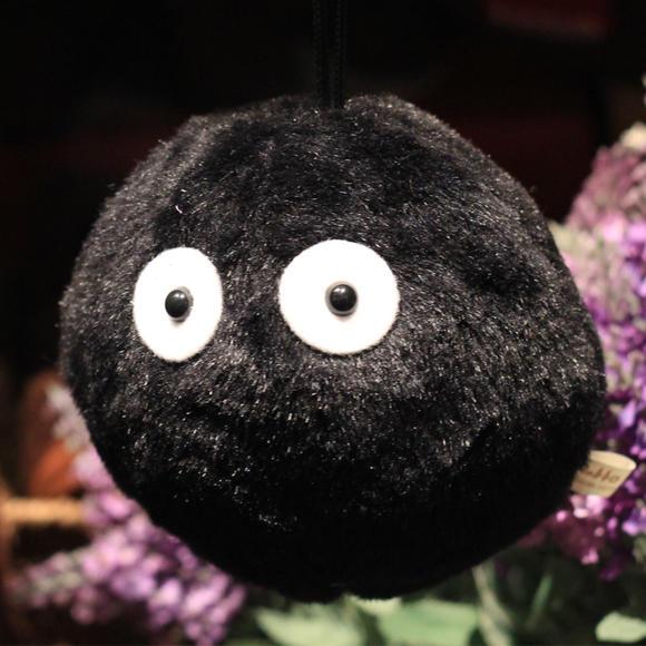 宫崎骏龙猫小黑挂件 煤炭屎灰尘精灵 可爱黑小鬼毛绒公仔 9个包邮