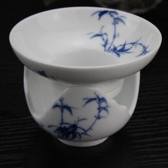 一画茶具 青花瓷 手绘竹子 大众经典9头套组