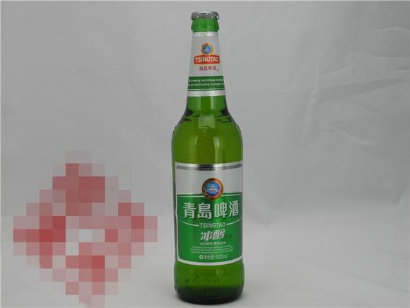 青岛 经典冰醇啤酒 瓶装 600ml 冰爽润滑