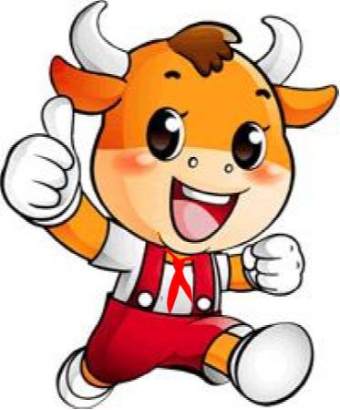 牛头卡通logo手绘
