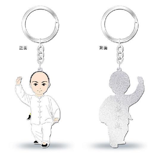太极文化钥匙链之-白鹤晾翅