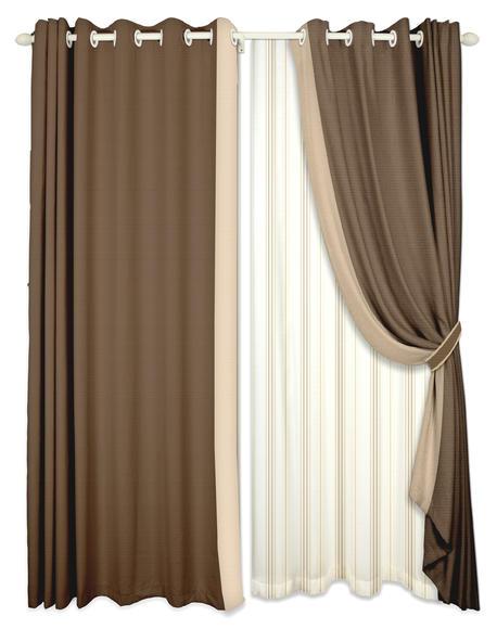 棕色窗帘矢量图