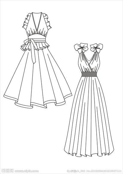 连衣裙的简笔画画法步骤