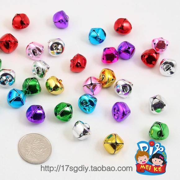 彩色圆形大铃铛开学手工制作幼儿园装饰 美可diy基础材料工具热卖