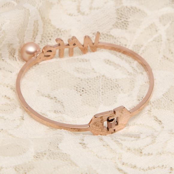 渭塘珍珠 纯银镀金单珠手镯 8-9mm正圆强光无瑕 天然珍珠手环手链
