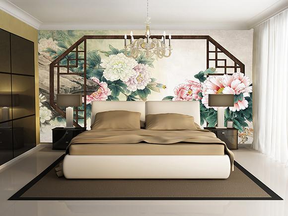 中国风 v-6232 壁画 客厅沙发电视背景墙图片