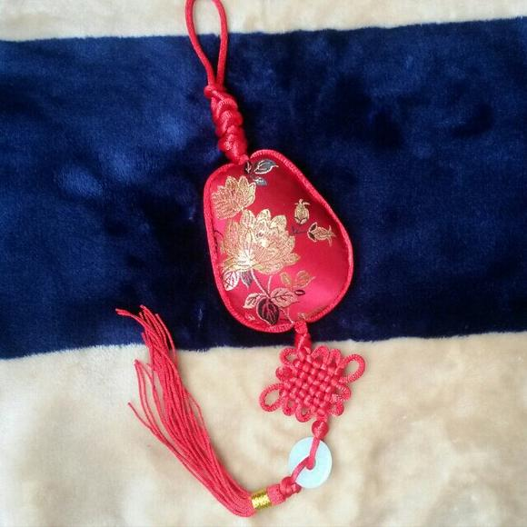 端午节平安葫芦形锦缎中草药香包 纯手工制作挂饰6厘米