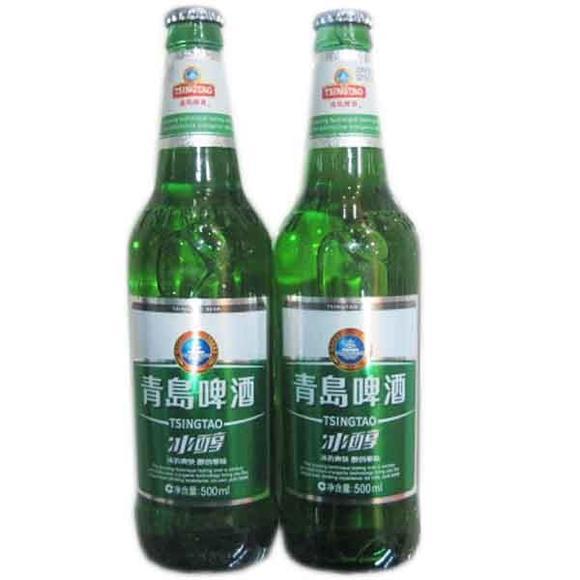 青岛啤酒瓶装冰醇500ml