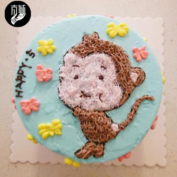 8寸猴子蛋糕