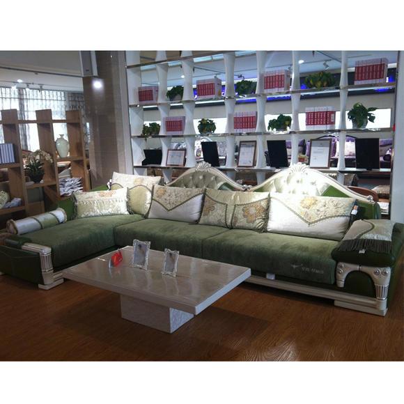皇玛梦丽莎欧式l310布艺沙发 l型客厅转角贵妃组合组装欧式风格