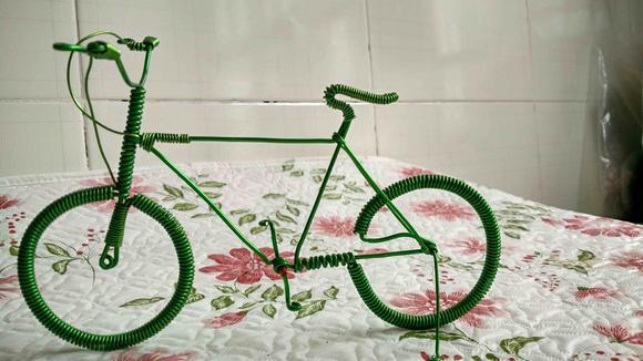 纯手工制作自行车模型