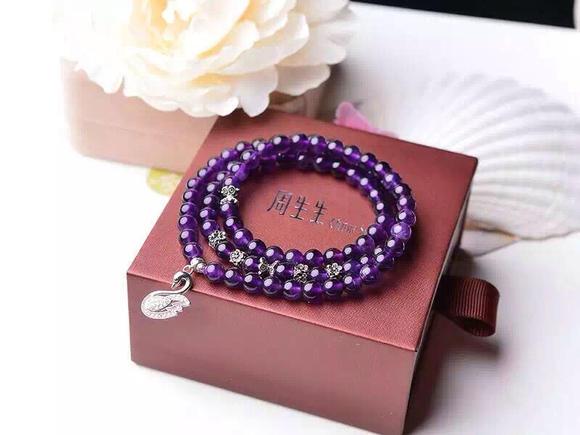 2011nm9�9��9�*��$9nm9l$yilK��K�F���_天然6mm紫水晶三圈手链,925银配件,微镶璀璨水钻,925银微镶恩爱天鹅