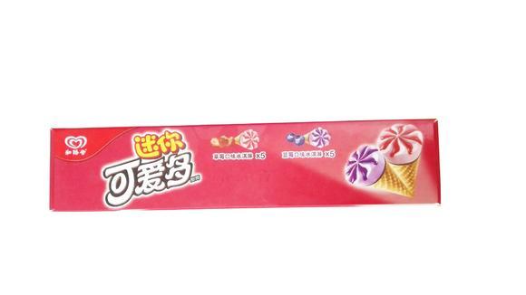 和路雪 迷你可爱多甜筒 (蓝莓口味冰淇淋x5   草莓口味冰淇淋x5) 10支