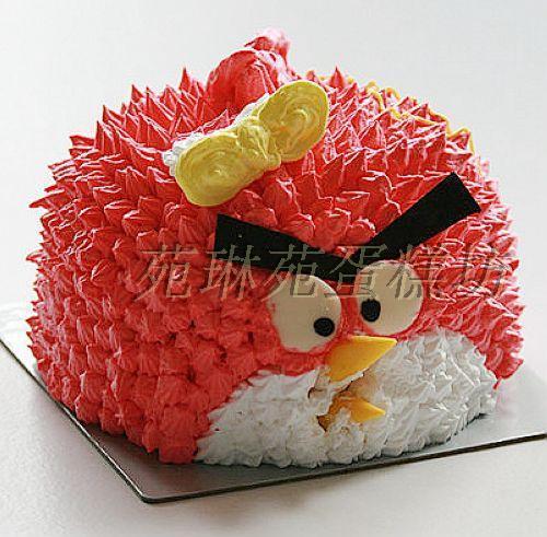 愤怒的小鸟儿童生日蛋糕昆明蛋糕速递 云南蛋糕鲜花实体连锁店