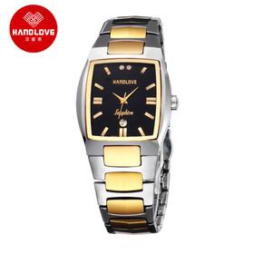 汉爱在瑞士手表排名_瑞士汉爱表钨钢手表男日历石英表情侣表男女表对表h1.8518
