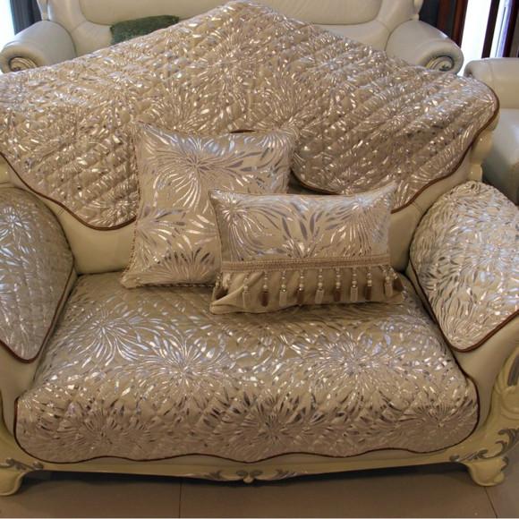 三南特价高档绗缝金丝绒皮沙发垫欧式坐垫飘窗垫实木垫子防滑定做
