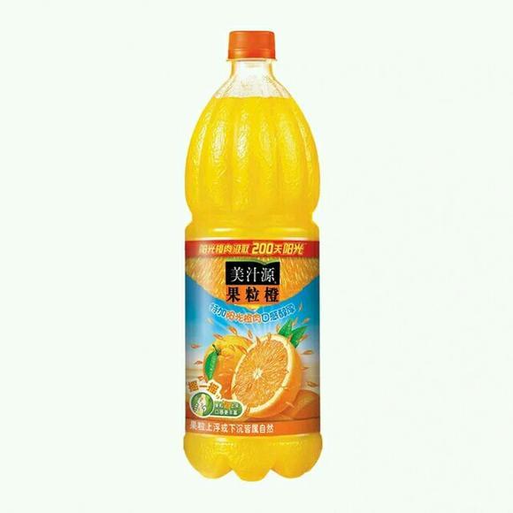 【文菲超市】可口可乐 出品美汁源果粒橙1.25l瓶装特惠 果汁饮料图片