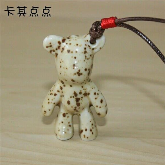 陶瓷暴力熊 可爱么么熊 momo熊 书包挂件 情侣必备 包