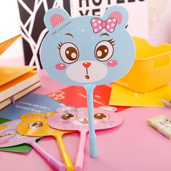 日韩文具圆珠笔,中油笔 可爱创意小动物扇子造型圆珠笔h0241