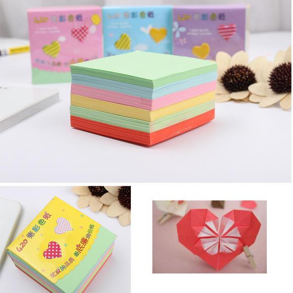 童手工卡纸贴画_手工纸彩纸折纸材料手工折纸卡纸幼儿童方形千纸鹤折纸彩色纸