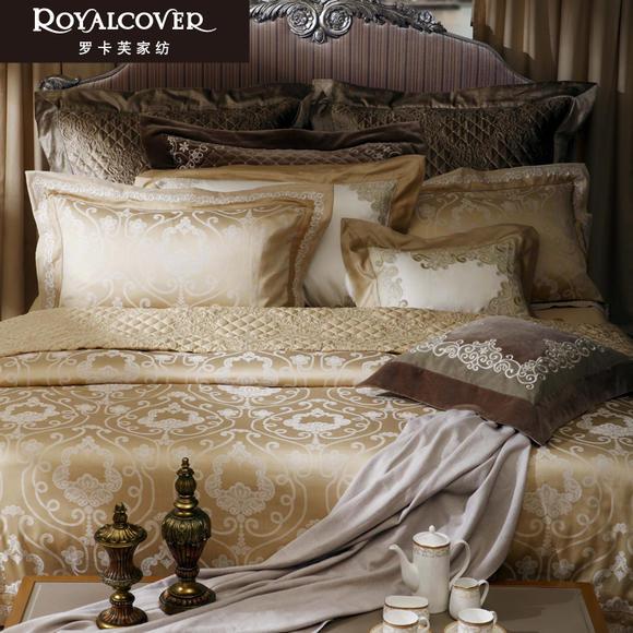 罗卡芙家纺 欧式奢华埃及长绒棉复古宫廷风 全棉四件套 维也纳