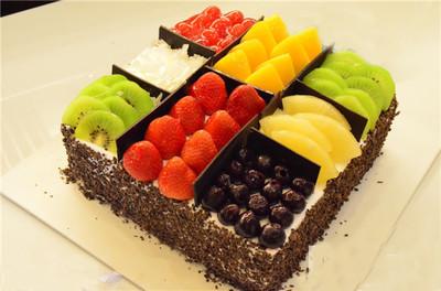 意浓 水果蛋糕 武汉创意蛋糕生日蛋糕定制 同城配送新鲜速递