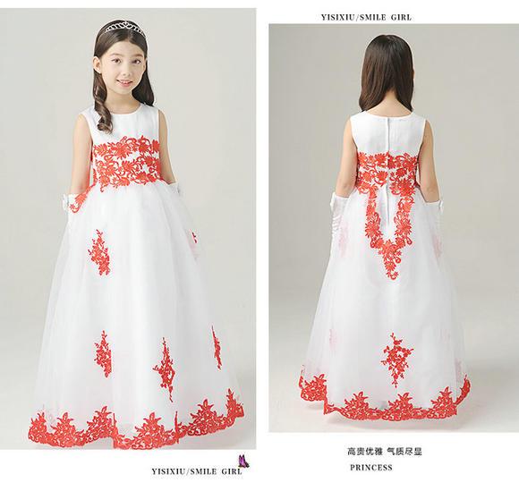 花童礼服欧式高端公主裙中大童女童生日蓬蓬裙