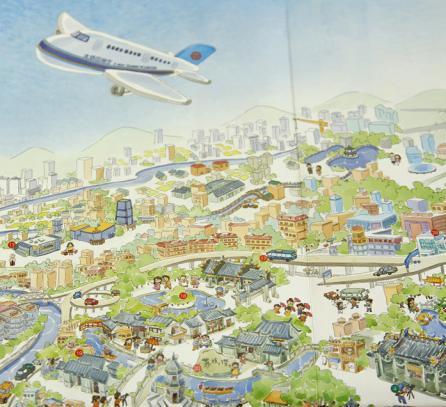 【手绘广州地图】新版升级加大,一张值得收藏的广州独特风情画,附送超值大礼包。 商品图4