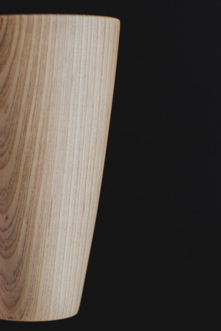 简约原木色白衫木纹水杯