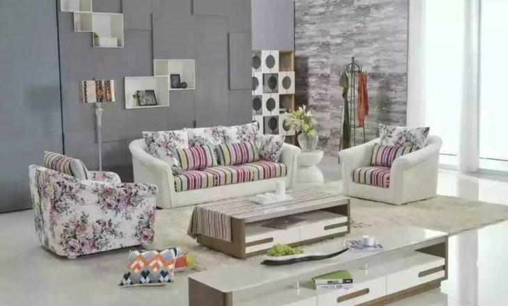 欧式皮配布沙发(全套)会员价3600元