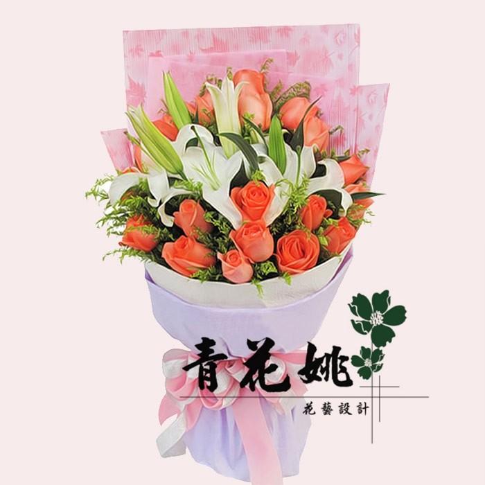 盒装花束包装手绘线稿