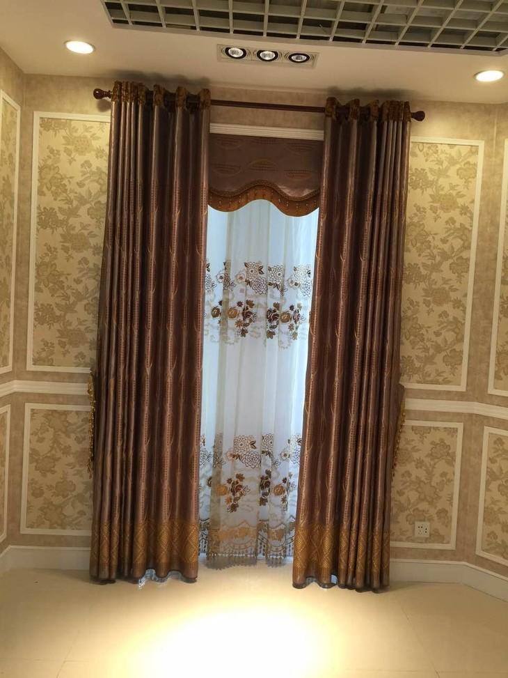 中式風格窗簾 臥室窗簾深色系窗簾 小油菜成品窗簾