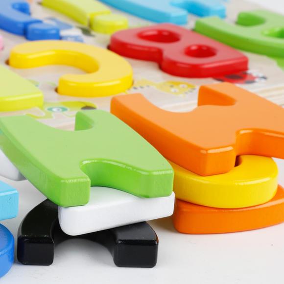 儿童英文字母拼音立体拼图拼板木质玩具 启蒙早教益智 幼儿园教具