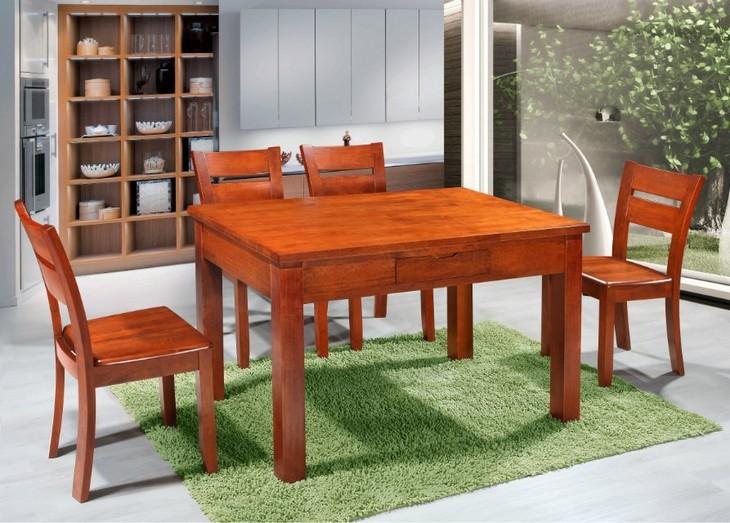 一品木歌 胡桃木餐台 6张餐椅