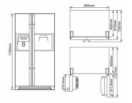 冰箱手绘平面图