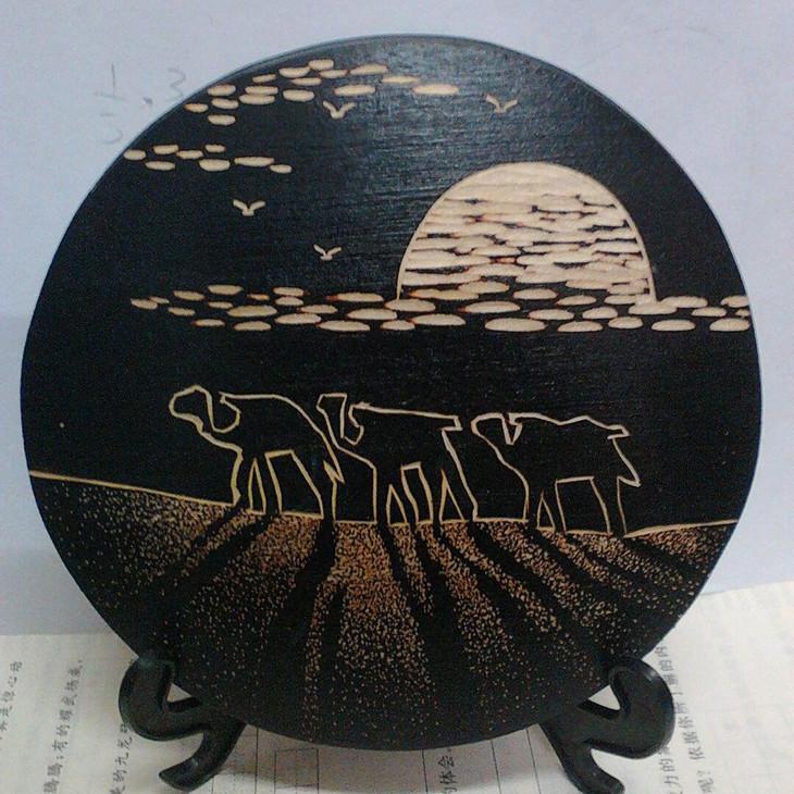 「敦煌风」纯手工木刻画-丝绸之路系列袖珍版包邮