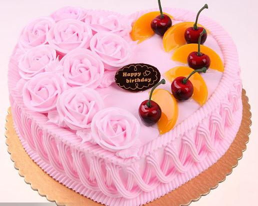 心形奶油花卉蛋糕20151001