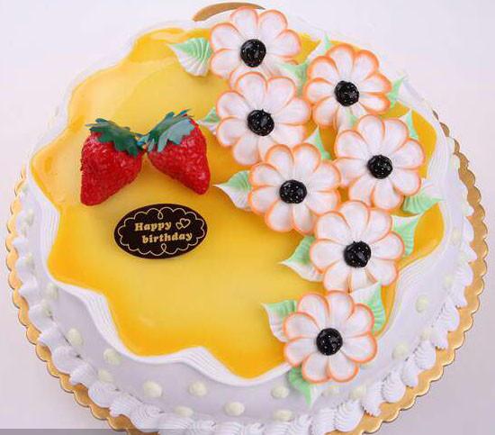 奶油花卉蛋糕20151005
