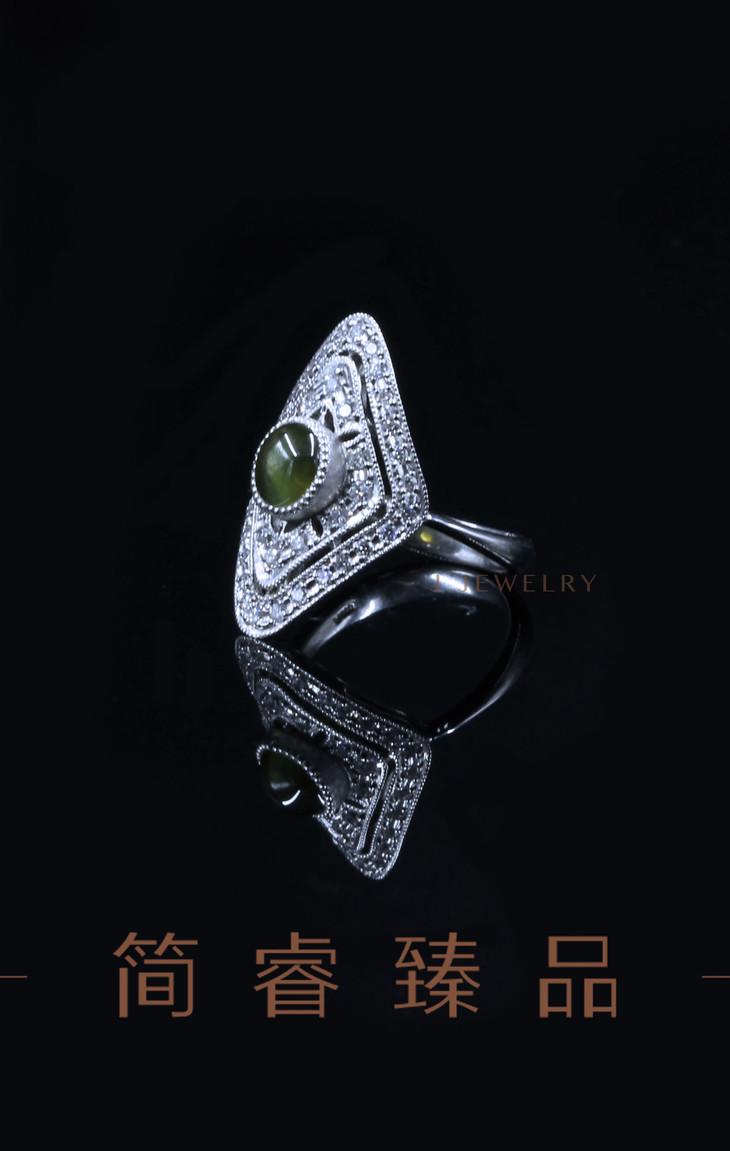 菱形猫眼戒指 - 简睿臻品
